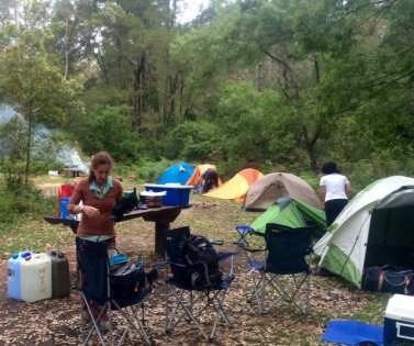 Long Gully campsite on Yadboro River